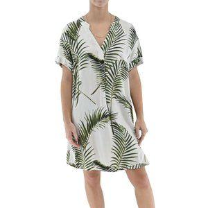 H&M Women's Palm Print Tunic Dress #XX12
